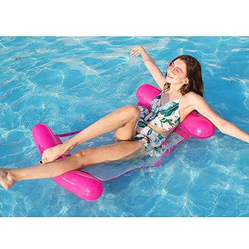 SSBH Erwachsene Wasser-aufblasbare Netz-Hängematte, schwimmendes faltendes Rückenlehnen-aufblasbares Sofa-Recliner-Luxusbett, kreatives stuhlförmiges Luftsofa-Recliner-Strand-Swimmingpool-Küsten-Parte