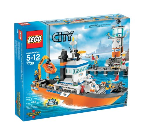 LEGO 7739 City Coast Guard Patrol Boat and Tower by LEGO (Lego City Coast Guard)