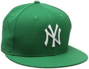 New Era Erwachsene Baseball Cap Mütze Mlb Basic NY Yankees 59Fifty Fitted, Green/White, 6 7/8, 10004022