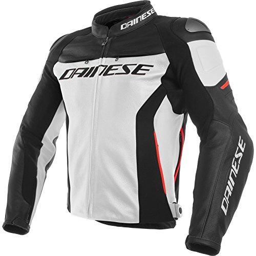 Dainese Racing Leder-Jacke Moto 3weiß/schwarz/rot 46Euro/36USA. - Usa 46