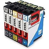 JETSIR Compatible Cartuchos de tinta Reemplazo para Epson 29XL, Alta Capacidad Compatible con Epson Expression Home XP-235 XP-245 XP-335 XP-342 XP-432 XP-442 XP-247 XP-330 XP-332 XP-345 XP-430 XP-435 XP-445 Impresora (2 Negro,1 Cian,1 Magenta,1 Amarillo)