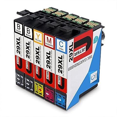 JETSIR Kompatibel Druckerpatronen Ersatz für Epson 29XL, Hohe Ergiebigkeit Kompatibel Mit Epson Expression Home XP-235 XP-245 XP-335 XP-342 XP-432 XP-442 XP-247 XP-330 XP-332 XP-345 XP-430 XP-435 XP-445 Drucker (2 Schwarz,1 Cyan,1 Magenta,1