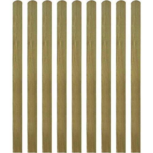 Festnight 10 Stücke Zaunlatte Zaunbrett aus Imprägniertes Holz Latte Höhe 140cm für Garten Patio Terrasse