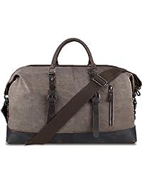 BLUBOON Lienzo bolsa de viaje de fin de semana Bolsa Bolso de viaje Duffle