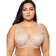 Delimira Femme Soutien Gorge à Armature Grande Taille Fermeture Devant  Quotidien b28786cc2c4
