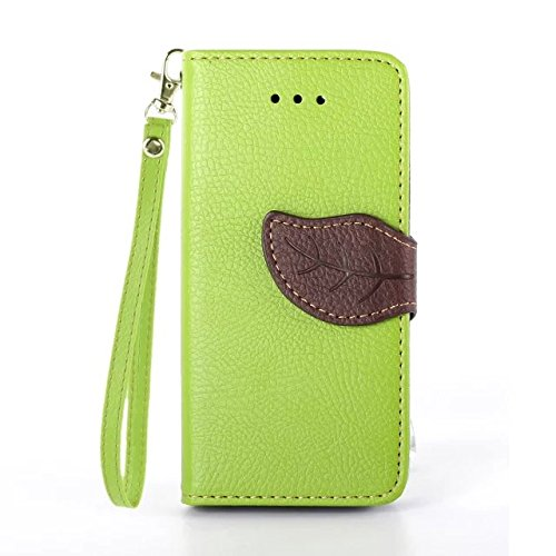 iPhone Case Cover Blatt-Magnetverschluss-Art-erstklassiger PU-lederner Fall-Mappen-Standplatz-Fall mit Handbügel Folio Pretective Fall-Silikon-Abdeckung für IPhone 5 5S SE ( Color : Black , Size : IPh Green