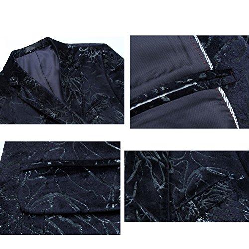 Zhuhaitf Style d'affaires Mens Suit Jacket Outwear Formal Blazer Coats blue