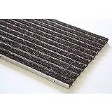 Pierre et Sol Felpudo Vario PGO, Lacado Marco de Aluminio Cubierto con Fibras de Poliamida Rosco - 784 x 584 mm, Negro, Gris