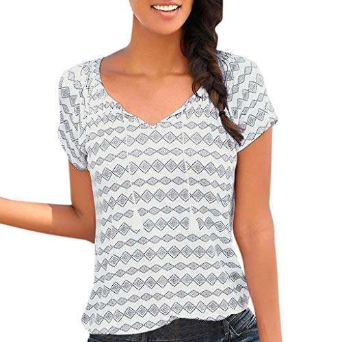 Weant Tshirt Oberteile Damen Elegant Sommer Kurzarm Schulterfrei Chiffon Langarm Druck Bluse Tops Kleidung T-Shirt Rose Druck Weste