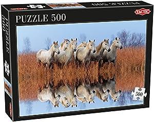 Tactic Horses 500 pcs Puzzle - Rompecabezas (Puzzle Rompecabezas, Fauna, Niños, Cabello, Niño/niña, 8 año(s))