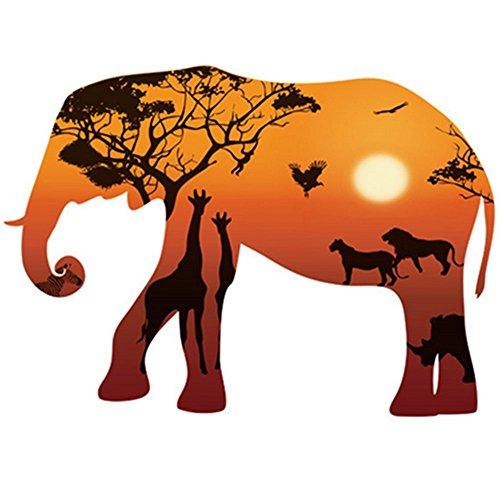 Rainbow Fox Selva Animal pegatina de pared Desmontable pegatinas para casa decoración (HM92002)