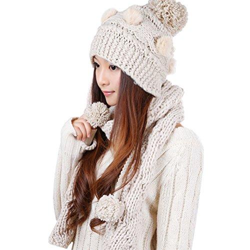 Version de Corée Hat/ écharpe/Bonnet chaud/ deux pièces B