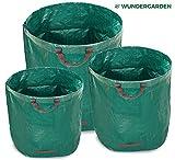 WUNDERGARDEN 3 borse da giardino 1x200l, 1x300l, 1x500l in robusto tessuto in polipropilene (PP) 150gsm