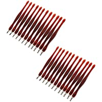 MagiDeal 24 Stück Nagelhautentferner - Nagelhautmesser mit V-Klinge - Edelstahl Nagelkunst Werkzeug Pediküre Maniküre preisvergleich bei billige-tabletten.eu