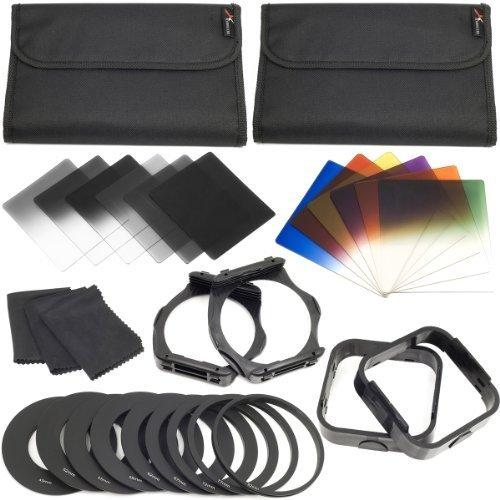 XCSOURCE 12-teilige ND Farbfilter + 9 Adapterringe + 2 Halter + 2 Gegenlichtblenden für Cokin LF142