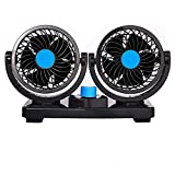 12V/24V Cooling Car Fan 360 Degree Rotatable with 2 Speed Cigarette Lighter Air