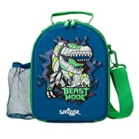 Smiggle Express Curve School Hardtop Lunchbox for Boys & Girls with Two Compartments & Strap