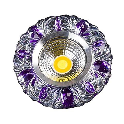Plafonnier Downlight Led Salle De Séjour Intégrée Spot Cristal Couleur 3W Bovine Lights Toile De Fond Toile De Plafond A1