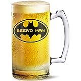 Beer Mug Beer'd Man Printed Beer Mug 500 Ml Best Gift For Husband,Friend,Birthday,Anniversary