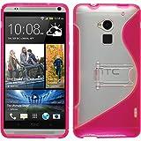 Funda de silicona para HTC One Max - rosa caldo - Cover PhoneNatic Cubierta + protector de pantalla