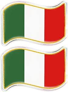 Quattroerre 484 Aufkleber Flagge Italien 3d Wave Auto