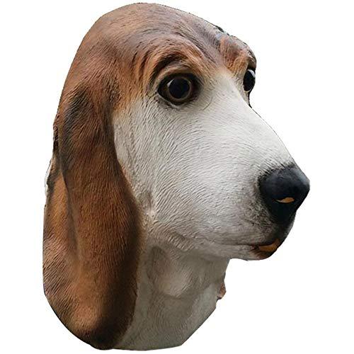 Maske YN Halloween Foxhound Erwachsene Lustige Hundekopf Gott Ärgerliche Hund Horror Latex Tierkopfbedeckung Requisiten