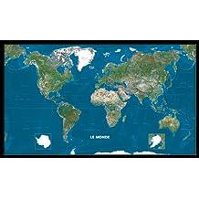 Carte Plastifie Roule Le Monde vu de l'Espace