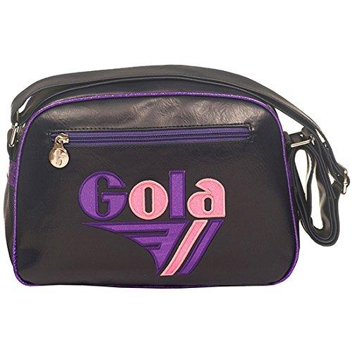 Gola Mini Redford Glitter CUB050, Borsa a Tracolla (Navy/Purple/Pink) Navy/Purple/Pink