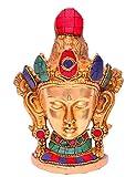 purpledip budista diosa tara máscara (para colgar en la pared), Pure latón con Gemstone Trabajo...