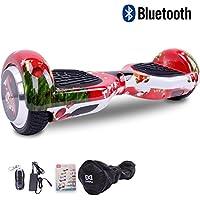 "[Regalo Navidad] Cool&Fun Patinete Eléctrico Scooter Talla 6.5"" LED 350W*2 Bluetooth de Shop Gyrogeek (C-Rojo)"