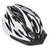 Hoaey Adulte réglable casque de vélo de montagne Vélo de route casque de vélo avec visière 18Évents Reniflard de sécurité protéger Chapeau pour sports de plein air (57–63cm), Homme, A White+Black