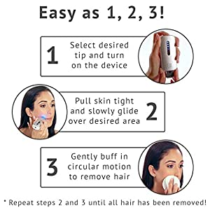 no!no! Thermicon Micro Home Facial and Body Hair Removal System for Women   Ladies Hair Remover Machine for Face, Body, Legs, Bikini Line and Arms   Painless with Long Lasting, Semi Permanent Results
