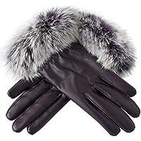 guantes invierno motocross mujer impermeables Guantes deportivos Gimnasio Guantes de cuero artificial Manoplas de invierno otoño by Sannysis