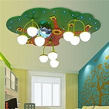Qiang Da Niños Protección De Ojos De Cuidado LED Luces De Techo Niños Y Niñas Dormitorio De Dibujos Animados Lámparas De Jardín De Infancia Creative Tree Of Wisdom Lámparas De Techo materiales respetuosos con el medio ambiente ( Color : Luz calida )