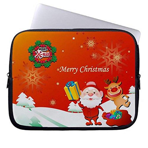 hugpillows-laptop-sleeve-borsa-buon-natale-babbo-natale-custodia-per-notebook-casi-con-cerniera-per-