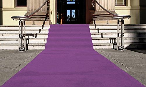 Lila Eventteppich VIP Carpet Läufer Teppich Empfangsteppich in Breite 1,5 m und Länge 10 m