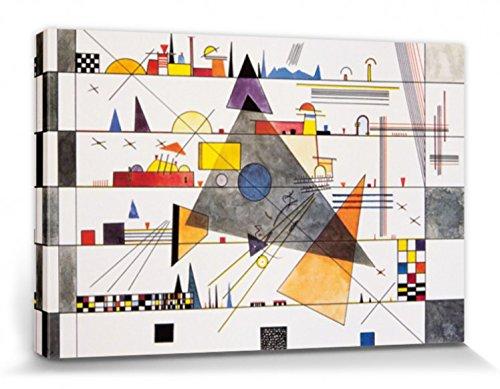 1art1 83167 Wassily Kandinsky - Horizontale, 1924 Leinwandbild Auf Keilrahmen 120 x 80 cm