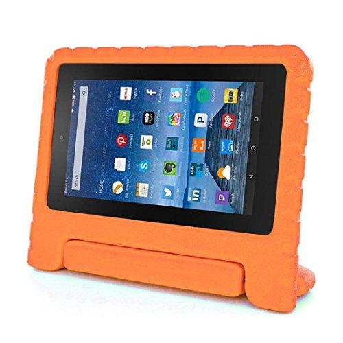 Vovotrade® Bambini antiurto EVA Maniglia cassa per Amazon Kindle Fire HD 7 2015 (Arancione)