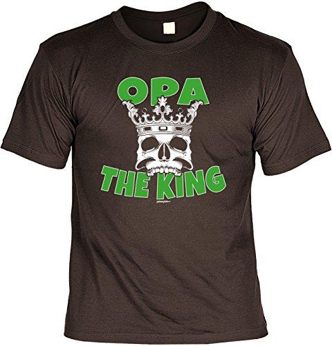 T-Shirt für Opa: Opa the King - Geschenk, Geburtstag - braun Braun
