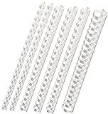 In plastica per rilegatura, assortimento di 160pezzi (6–22mm/max. circa 190fogli), Bianco