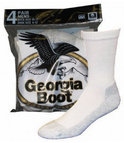 Géorgie Coton Crew Socks (4-Pack)