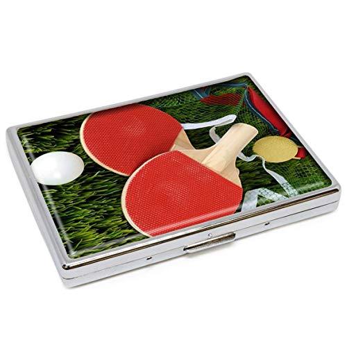 Tragbarer Aschenbecher, Tennisschläger-Design, tragbar, Edelstahl, rund, mit Halterung