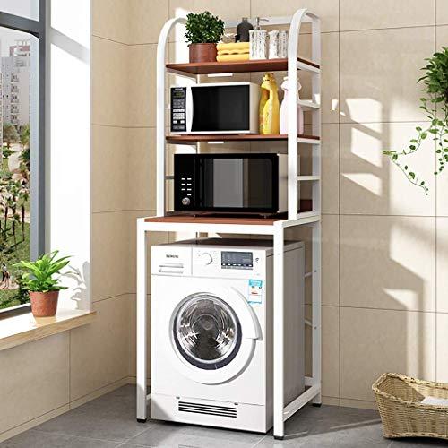 XYJZW Regal Waschmaschinenregal 3-lagiges Eisenmaterialregal Waschmaschinenregal Bad-Wäscheständerregal Multifunktionsregal (Color : D)