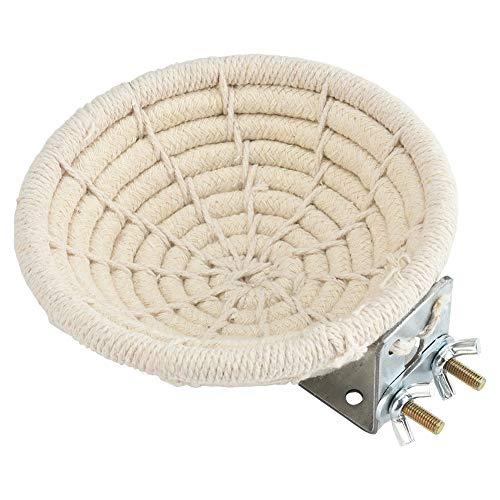 Furpaw Vogelnest, Handgefertigtes Brutnest aus Baumwolle für Vögel, Nester für Wellensittiche Sittiche Nymphensittiche Kanarische Finken -