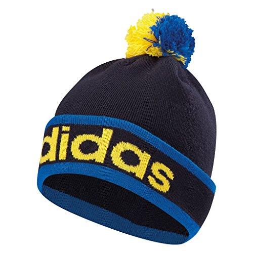 Adidas 2016 ClimaHeat Pom Pom Beanie Mens Golf Winter Bobble Hat Bright Royal/Night Indigo Medium