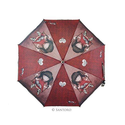 Gorjuss - Paraguas Plegable Manual Ruby Santoro 76-0001-10