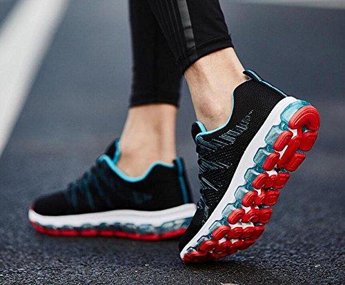 SHIXR Mouvement Homme Coussin de Coussin Complet Coussin Chaussures Antidérapant - Résistant Chaussures de Course Chaussures de Randonnée Black