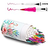 Ohuhu 60 Colours Dual Tips Colouring Brush Pens Fineliner Art Markers Pens, Water