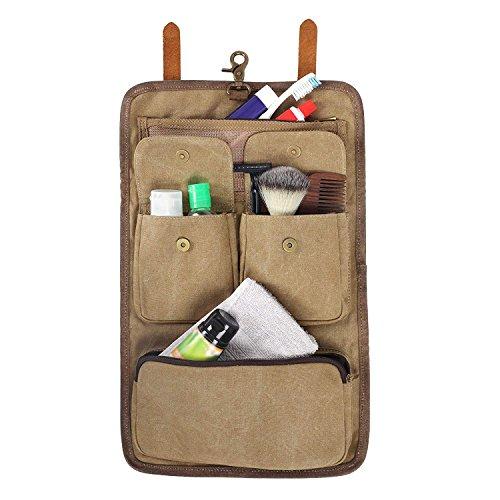 Ville rustique accrochant le sac de toilette en toile de toile pour les hommes - kit de Dopp / sac d'accessoires de voyage / grand cadeau