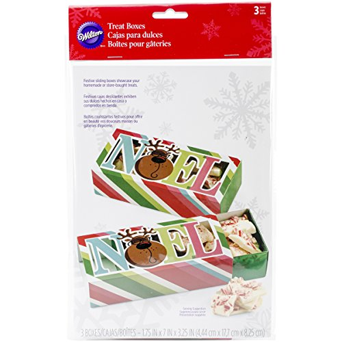Wilton Christmas Sweet Holiday Sharing Schiebetür Treat Box Kit, 3 Stück